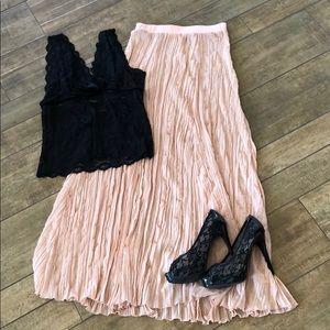 Free People blush peach pink chiffon skirt